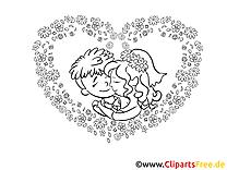 Noce coloriage - Mariage dessins gratuits