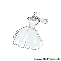 Robe image gratuite - Mariage cliparts