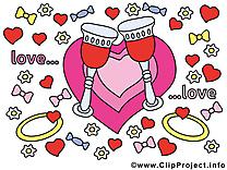 Verres mariage image à télécharger gratuite