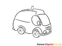 Ambulance clip arts à imprimer - Médecine illustrations