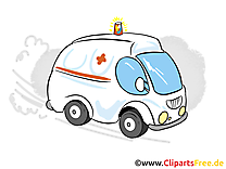 Ambulance clip arts gratuits - Médecine illustrations