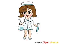 Dessin infirmière - Médecine clip arts gratuits