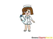 Dessins infirmière gratuits - Médecine clipart
