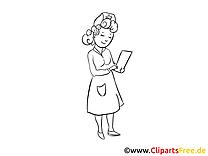 Images à colorier infirmière – Médecine clipart