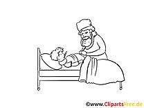 Malade clip art à colorier – Médecine images