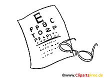 Ophtalmologue coloriage - Médecine cliparts