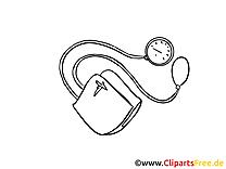Stéthoscope médecine image à colorier gratuite