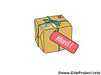 Boîte clip arts gratuits - Merci illustrations