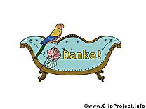 Canapé perroquet clip art gratuit - Merci dessin