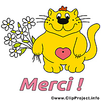Chat dessin - Merci clip arts gratuits