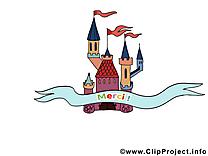 Château illustration - Merci images
