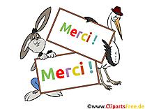 Cigogne lapin clipart - Merci dessins gratuits