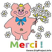 Cochon dessins gratuits - Merci clipart