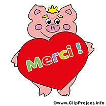 Cochon image gratuite - Merci illustration