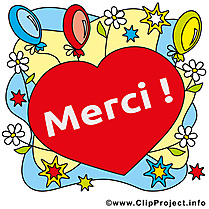 Coeur illustration gratuite - Merci clipart
