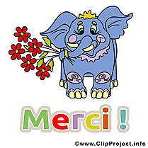 Éléphant clipart - Merci dessins gratuits