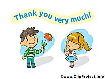 Enfants cliparts gratuis - Merci images