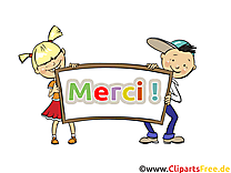 Enfants illustration gratuite - Merci clipart