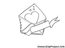 Enveloppe coloriage - Merci cliparts à télécharger