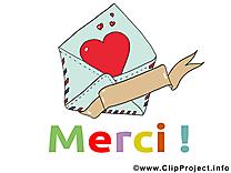 Enveloppe dessins gratuits - Merci clipart