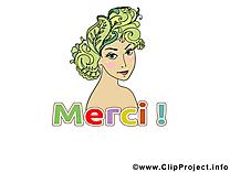 Femme clip arts gratuits - Merci illustrations