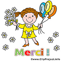 Fille clip arts gratuits - Merci illustrations