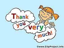 Fille dessin - Merci clip arts gratuits