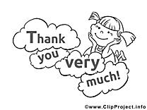 Fille dessin à imprimer - Merci cliparts à télécharger