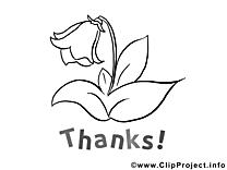 Fleur clipart à colorier - Merci images