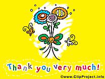 Fleur images - Merci clip art gratuit