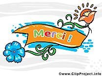 Fleurs clip arts gratuits - Merci illustrations