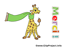 Girafe cliparts gratuis - Merci images