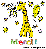 Girafe image gratuite - Merci illustration