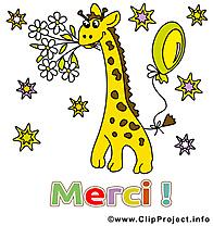 Girafe image gratuite - Merci illustration