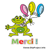 Grenouille image gratuite - Merci illustration