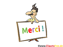 Homme mage - Merci images cliparts