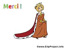 Princesse clip art – Merci gratuite