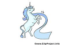 Unicorne image à télécharger - Merci clipart