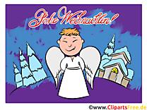 Ange Joyeux Noël Carte de Voeux