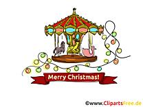 Carrousel Carte virtuelle Joyeux Noël gratuite