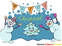 Cartes de Voeux Happy Christmas