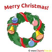 Couronne de Noël Cartes de Voeux, Cliparts