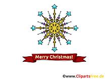Flocon de Neige Carte virtuelle Joyeux Noël