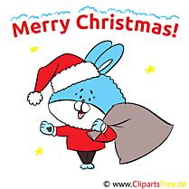 Happy Christmas Cartes de Voeux, eCards, Clip Art