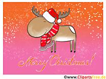 Joyeux Noël Carte virtuelle imprimer gratuite