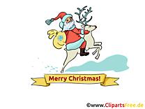Joyeux Noël image, card, clipart gratuite