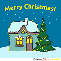 Merry Christmas Carte de Voeux, e-Card, Clipart