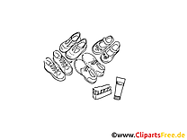 Chaussures illustration à colorier clipart
