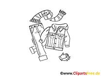 Enfant vêtements image à colorier - cliparts