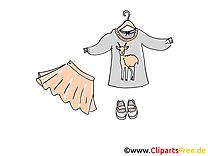 Enfants vêtements clip art image gratuite